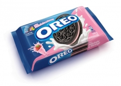 Biscoito OREO Recheado (4X36G) Milkshake de Morango