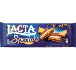 Tablete de Chocolate Lacta Specials Chocobiscuit 300 Gramas