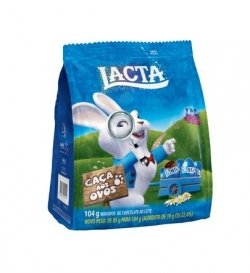 Chocolate ao leite Mini Ovos Lacta 104G
