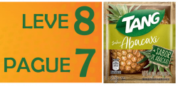 Suco em pó Tang Promocional Abacaxi Leve 8 Pague 7