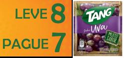 Suco em pó Tang Promocional Uva Leve 8 Pague 7