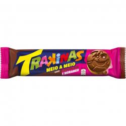 Biscoito Trakinas Recheado Meio/Meio Chocolate/Morango 126G
